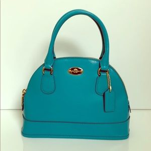 Coach Leather Small Satchel Bag